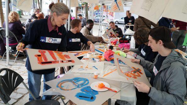 team-building solidaire AXA ATOUT COEUR / L'Eléphant Ose Belleville